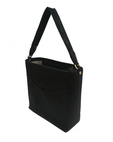 CITY BLOOMS TOTE IN TONAL STRAP IN BLACK