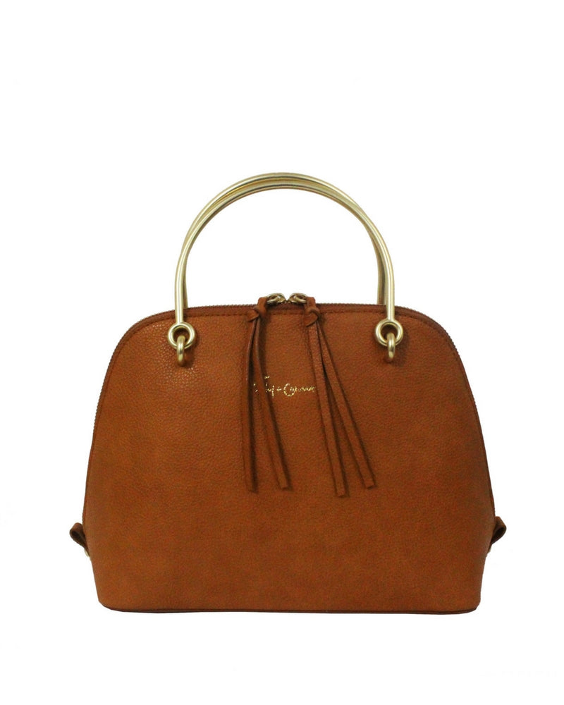 CITY BLOOMS DOME SATCHEL IN YAM