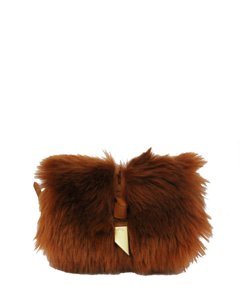 CITY BLOOMS BO CROSSBODY IN YAM FUR