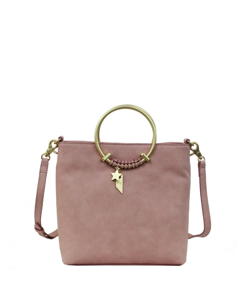 CITY BLOOMS RING SATCHEL IN BLUSH