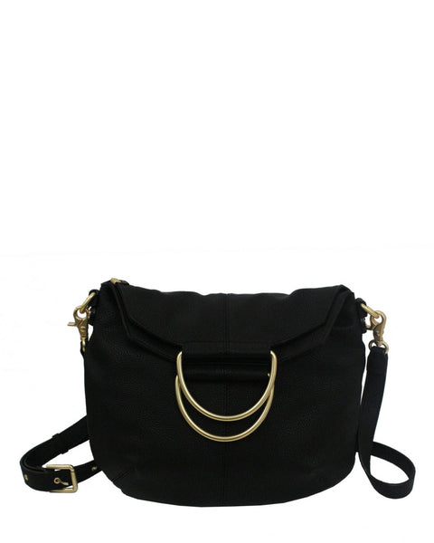 CITY INSTINCTS RING SATCHEL IN BLACK