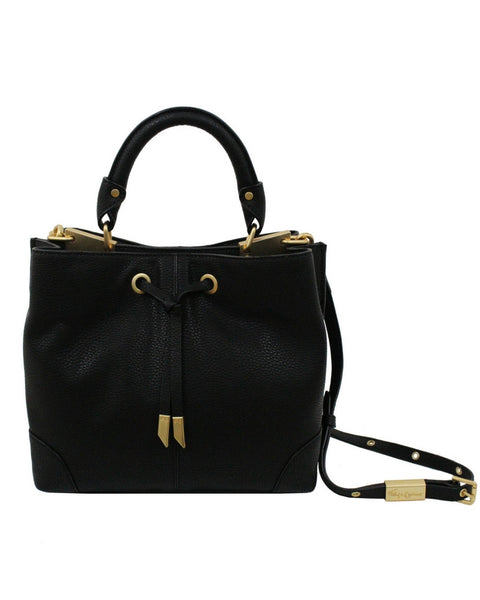 DEVON SQUARE SATCHEL IN BLACK