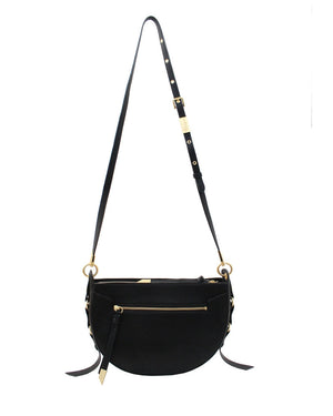 Wildheart Crescent Crossbody in Black