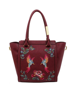 Ma Cherie Taylor Tote in Berry Sangria