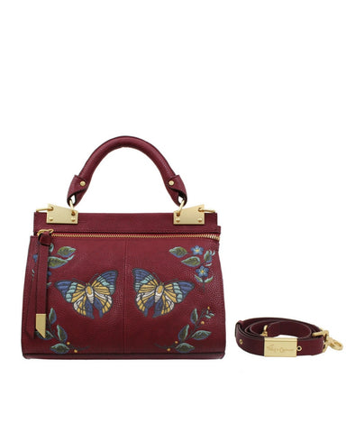 MA CHERIE DIONE MINI MESSENGER IN BERRY SANGRIA
