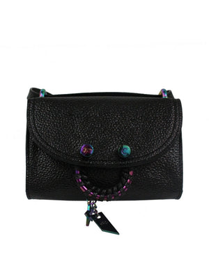 City Instincts Blake E/W Crossbody in Black Patent