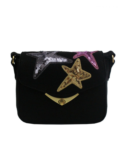LIMELIGHT CITY MINI CROSSBODY IN BLACK WITH STARS