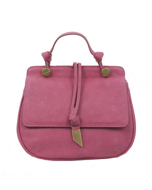 Dione Saddle Bag in Rose