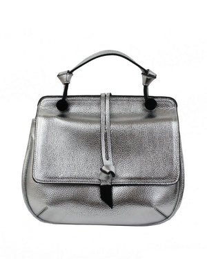 Dione Saddle Bag in Silver