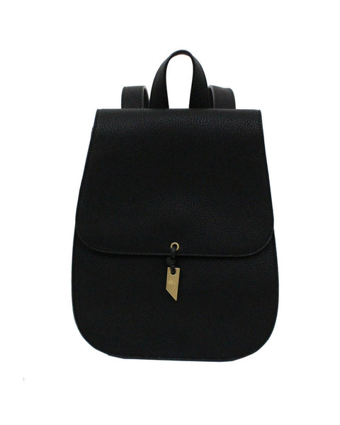 LOLA LIBERATED LEATHER BACKPACK IN BLACK
