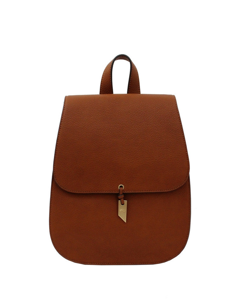 LOLA LIBERATED LEATHER BACKPACK IN COGNAC