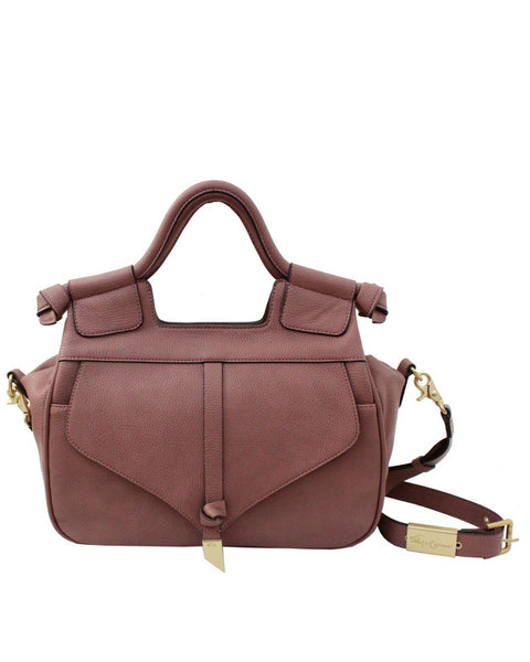 BRITTANY LIBERATED LEATHER SATCHEL  IN ROSEWOOD