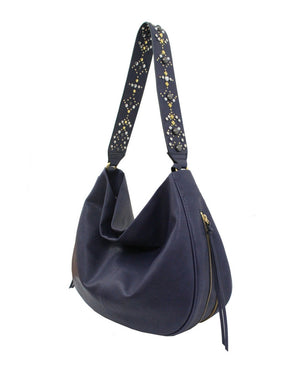 Stargazer Avery Hobo in Midnight Blue