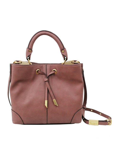 DEVON SQUARE LIBERATED LEATHER SATCHEL IN ROSEWOOD