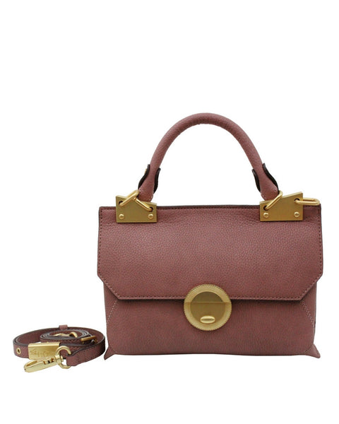 SEDONA SUNSET DIONE FLAP LIBERATED LEATHER CROSSBODY IN ROSEWOOD