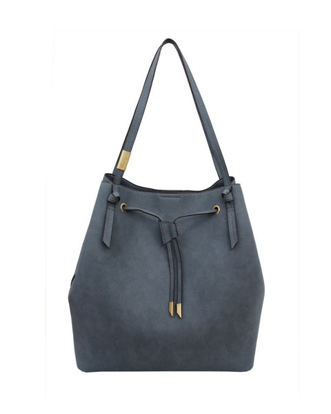 WILDHEART LARGE DRAWSTRING TOTE IN BLUE INFINITY