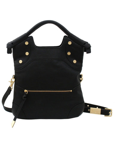 FC LADY LIBERATED LEATHER TOTE IN BLACK