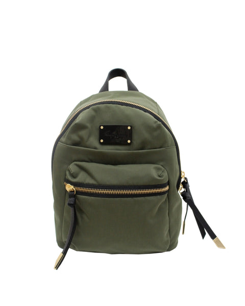 FUSION NYLON BACKPACK IN DESERT GREEN