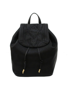 SEDONA SUNSET LIBERATED LEATHER BACKPACK IN BLACK