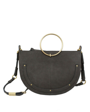 Tyler Crescent Satchel in Grey