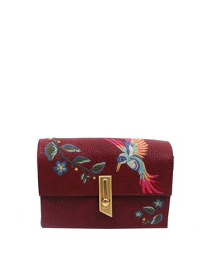 Ma Cherie Taylor Crossbody in Berry Sangria