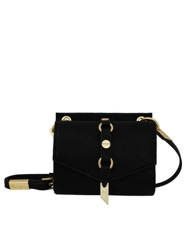WILDHEART LIBERATED LEATHER MINI CROSSBODY IN BLACK