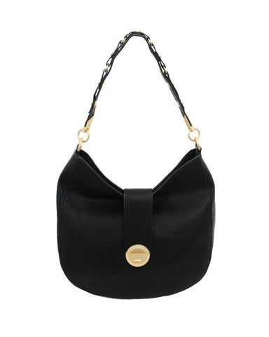 WILDHEART LIBERATED LEATHER HOBO IN BLACK
