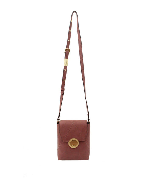 SEDONA SUNSET LIBERATED LEATHER PHONE BAG IN ROSEWOOD