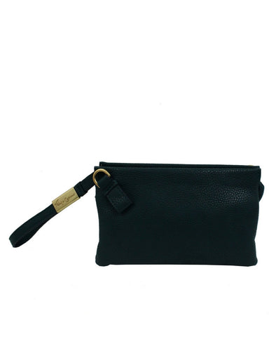 CACHE LIBERATED LEATHER CROSSBODY IN BLACK