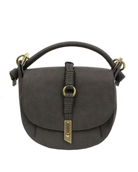 VICTORIA SADDLE BAG IN GREY
