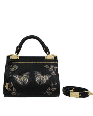MA CHERIE DIONE MINI MESSENGER IN BLACK