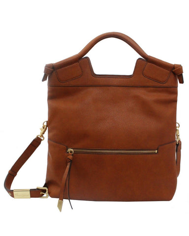 MID CITY LIBERATED LEATHER TOTE  IN COGNAC