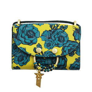 Blake E/W Crossbody in Lemon & Teal