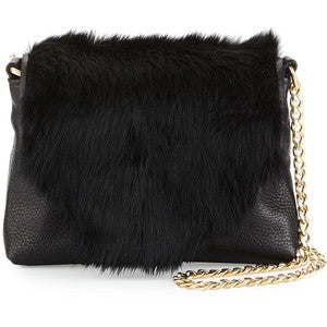 FC STARDUST MINI CROSSBODY IN BLACK RABBIT