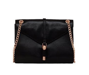 Ava Shoulder Bag in Black