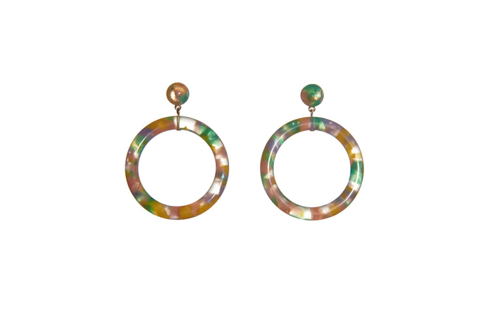 Marquis Front Hoop Earrings