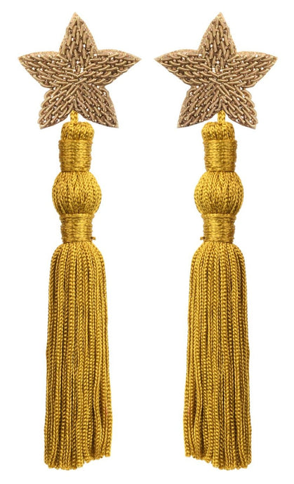 Faye Drop Tassel Earrings