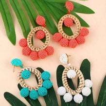 Load image into Gallery viewer, Bohemian beaded earrings