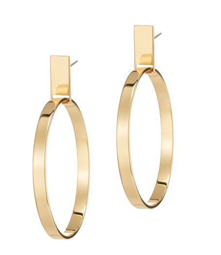 Agnes Gold medium hoop