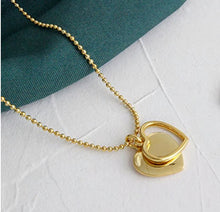 Load image into Gallery viewer, Double Heart Pendant Necklace