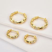 Load image into Gallery viewer, Bambu Rhinestone Hoops