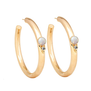 Royal Gemstone Hoops
