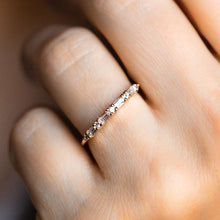 Load image into Gallery viewer, CZ Baguette Stacking Ring
