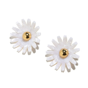 Daisy Button Earrings