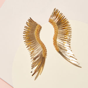 madeline earrings metallic gold