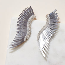 Load image into Gallery viewer, madeline earrings metallic silver