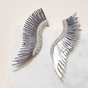 madeline earrings metallic silver