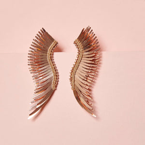 madeline earrings metallic rosegold