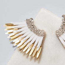 Load image into Gallery viewer, mini madeline earrings white