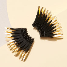 Load image into Gallery viewer, mini madeline earrings black